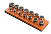 "Mechanic's Time Savers 1/2"" Drive Shallow (14 Hole) Socket Organizer (Solar Orange)"