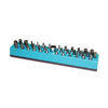 "Mechanic's Time Savers 1/4"" 37-Hole Magnetic Hex Bit Organizer, Neon Blue"