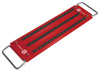 "Mechanic's Time Savers 1/4"" Dr 51 Posts 3-Row Lock-a-Socket Tray, Red"