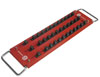 "Mechanic's Time Savers 1/2"" Dr 36-Posts 3-Row Lock-a-Socket Tray, Red"