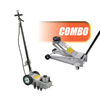 OTC Tools & Equipment COMBO: 22-Ton Capacity Under-Axle Jack and Two Speed 3-1/2 Ton Service Jack