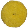 "Presta 7-1/4"" Quik Pad Yellow Blended Wool Medium Cutting Pad"