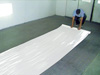 """RBL Products, Inc. 48"""" X 200' Roll Self-Adhering, Heavy-duty White Plastic for  Concrete Floors"""