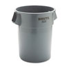 RCP-265500GY - Rubbermaid Commercial Round Brute Container, Plastic, 55 Gal, Gray
