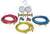 Robinair R12 & R134a Brass Manifold, Hose Set And Service Couplers