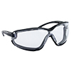 SAS Safety Black Frame Gloggles™ with Clear Lens