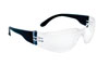 SAS Safety Black Frame NSX™ Safety Glasses with Clear Lens