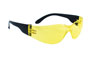 SAS Safety Black Frame NSX™ Safety Glasses with Yellow Lens