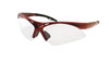 SAS Safety Red Frame Diamondbacks™ Safety Glasses with Clear Lens