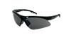 SAS Safety Black Frame Diamondbacks™ Safety Glasses with Gray Lens