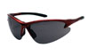 SAS Safety Red Frame DB2™ Safety Glasses with Gray Lens