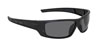 SAS Safety Black Frame VX9™ Safety Glasses with Gray Lens