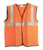 SAS Safety ANSI Class 2 Safety Vest, Orange, Large