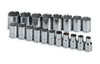 "SK Hand Tool 1/2"" Dr 6 Pt STD Metric  Socket Set, 19 Pc"