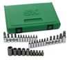 "SK Hand Tool 1/4"", 3/8"" and 1/2"" Dr Torx Bit  Socket Set, 35 Pc"