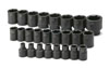 "SK Hand Tool 1/2"" Dr 6 Pt STD Metric ImpactSocket Set, 25 Pc"