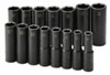 "SK Hand Tool 1/2"" Dr 6 Pt Deep Metric ImpactSocket Set, 15 Pc"