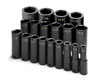 "SK Hand Tool 1/2"" Dr 6 Pt Deep SAE ImpactSocket Set, 19 Pc"