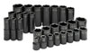 "SK Hand Tool 1/2"" Dr 6 Pt STD and Deep SAE ImpactSocket Set, 28 Pc"