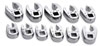 "SK Hand Tool 3/8"" Dr Met Flare Nut Crow Foot Wrench Set, 11 Pc"