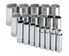 "SK Hand Tool 1/2"" Dr 12 Pt Deep SAE  Socket Set, 19 Pc"