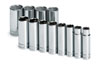 "SK Hand Tool 1/2"" Dr 6 Pt Deep SAE  Socket Set, 12 Pc"