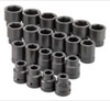 "SK Hand Tool 1"" Dr 6 Pt STD SAE ImpactSocket Set, 21 Pc"