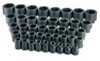 "SK Hand Tool 1"" Dr 6 Pt STD SAE Impact Socket Set, 41 Pc"