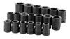"SK Hand Tool 1"" Dr 6 Pt Deep SAE  Socket Set, 19 Pc"