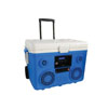 Sondpex KoolMAX - 40Quart Cooler, Bluetooth Audio System and Power Station, Blue