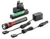 Streamlight Stinger® LED HL™ Rechargeable Flashlight with PiggyBack® Charger, Red