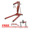 Sunex Tools 1.5 Ton Engine Crane w/ FREE ¾ Ton Load Lever Engine Sling and 3 Point Engine Support Transverse Bar