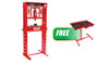 Sunex Tools 20 Ton Manual Shop Press w/FREE Adjustable Heavy Duty Work Table with Drawer