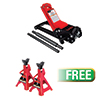 Sunex Tools 3 Ton Low Rider Service Jack w/FREE 3 Ton Jack Stands