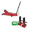 Sunex Tools 20 Ton Air Long Chassis Jack W/ FREE 22 Ton Jack Stands (Pair)