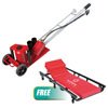 Sunex Tools 20 Ton Air/Hydraulic Truck Jack w/FREE 6 Caster Creeper with Adjustable Head Rest