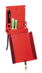 Sunex Tools Locking Screwdriver/Pry Bar Holder for Service Cart, Red