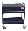 Sunex Tools Service Cart with Locking Top and Drawer, Black