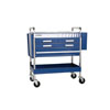 Sunex Tools Service Cart with Locking Top and Locking Drawer, Blue