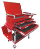 Sunex Tools 350 Lbs Capacity 4-Drawer Deluxe Service Cart, Red