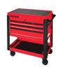 Sunex Tools 3 Drawer Service Cart with Sliding Top, Red