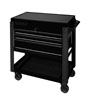 Sunex Tools 3 Drawer Service Cart with Sliding Top, Black