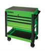 Sunex Tools 3 Drawer Service Cart with Sliding Top, Lime Green