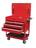 Sunex Tools 4 Drawer Service Cart with Locking Top, Red