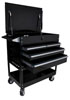 Sunex Tools 4 Drawer Service Cart with Locking Top, Black