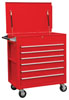 Sunex Tools Full Drawer Professional Duty Service Cart, Red