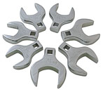 """Sunex Tools 1/2"""" Dr Fully Polished Metric Jumbo Straight Crowfoot WrenchSet, 7Pc"""