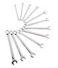Sunex Tools Fully Polished Metric V-Groove Combination Wrench Set, 12 Pc.