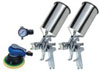 Titan H.V.L.P. Dual Set-Up Spray Gun Kit, 4 pc