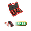 Titan 19 pc. 3/8 in. Drive Metric VDE Insulated Socket Set W/FREE 7pc Insulated  Screwdriver Set